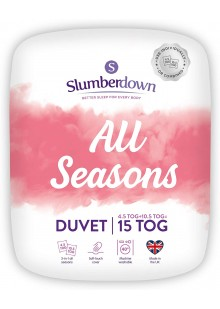Slumberdown All Seasons 3-in-1 15 Tog Combi Duvet, White, Double Bed