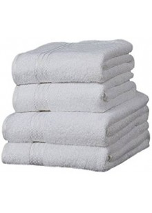 набор белых полотенец Linens Limited Supreme 100% Egyptian Cotton 4 Piece Guest Towel Set, White